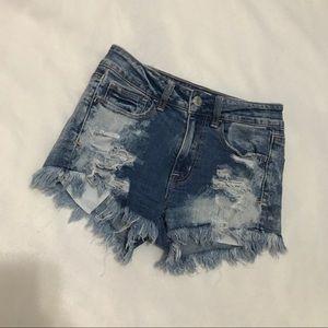 3/$20 High waisted jean shorts